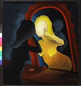 Eva u ogledalu,1995.staklo