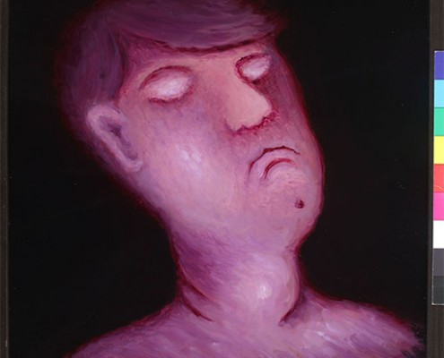 Glava mladića,1992.staklo